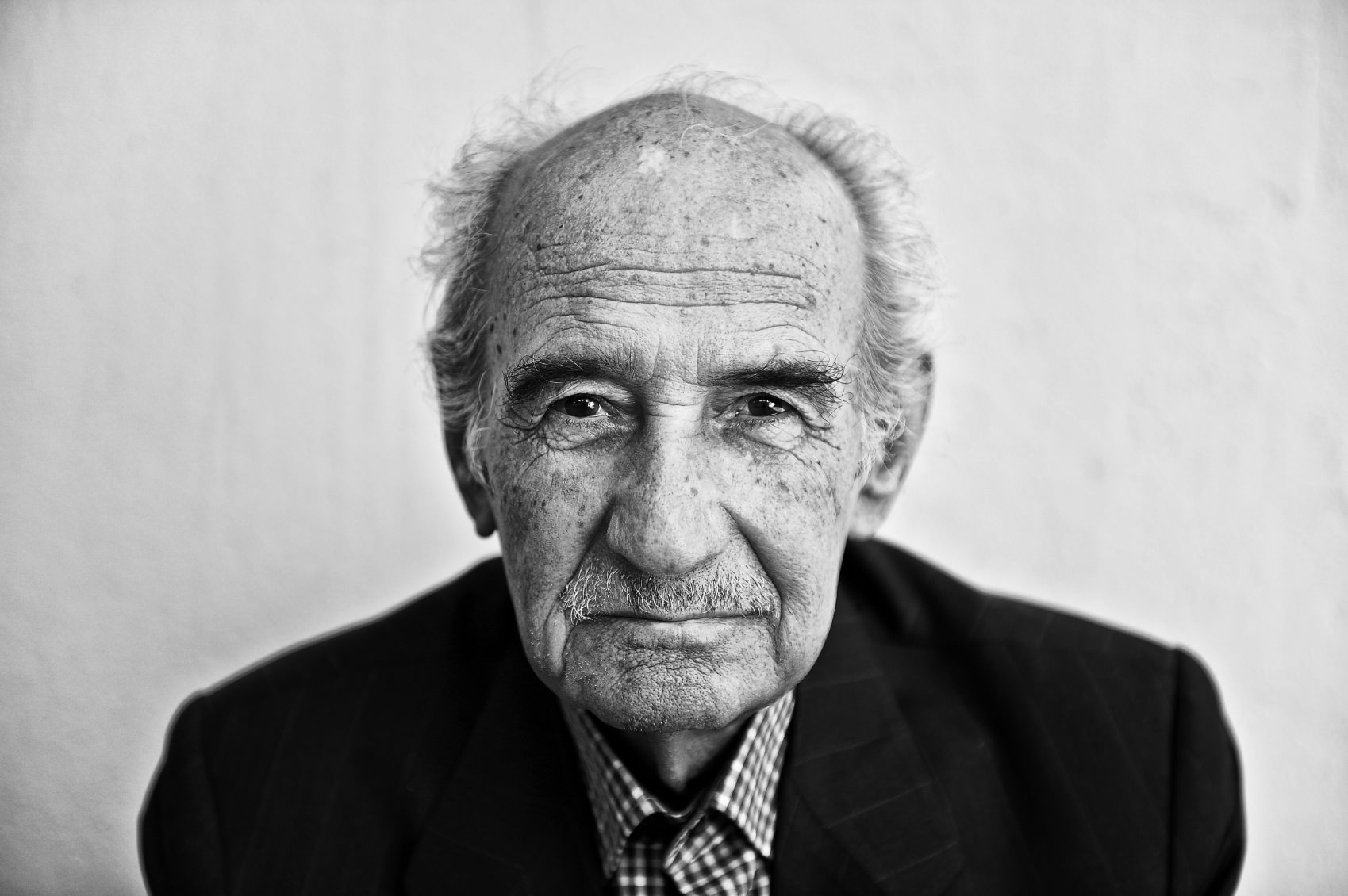 Black white portraits of old men