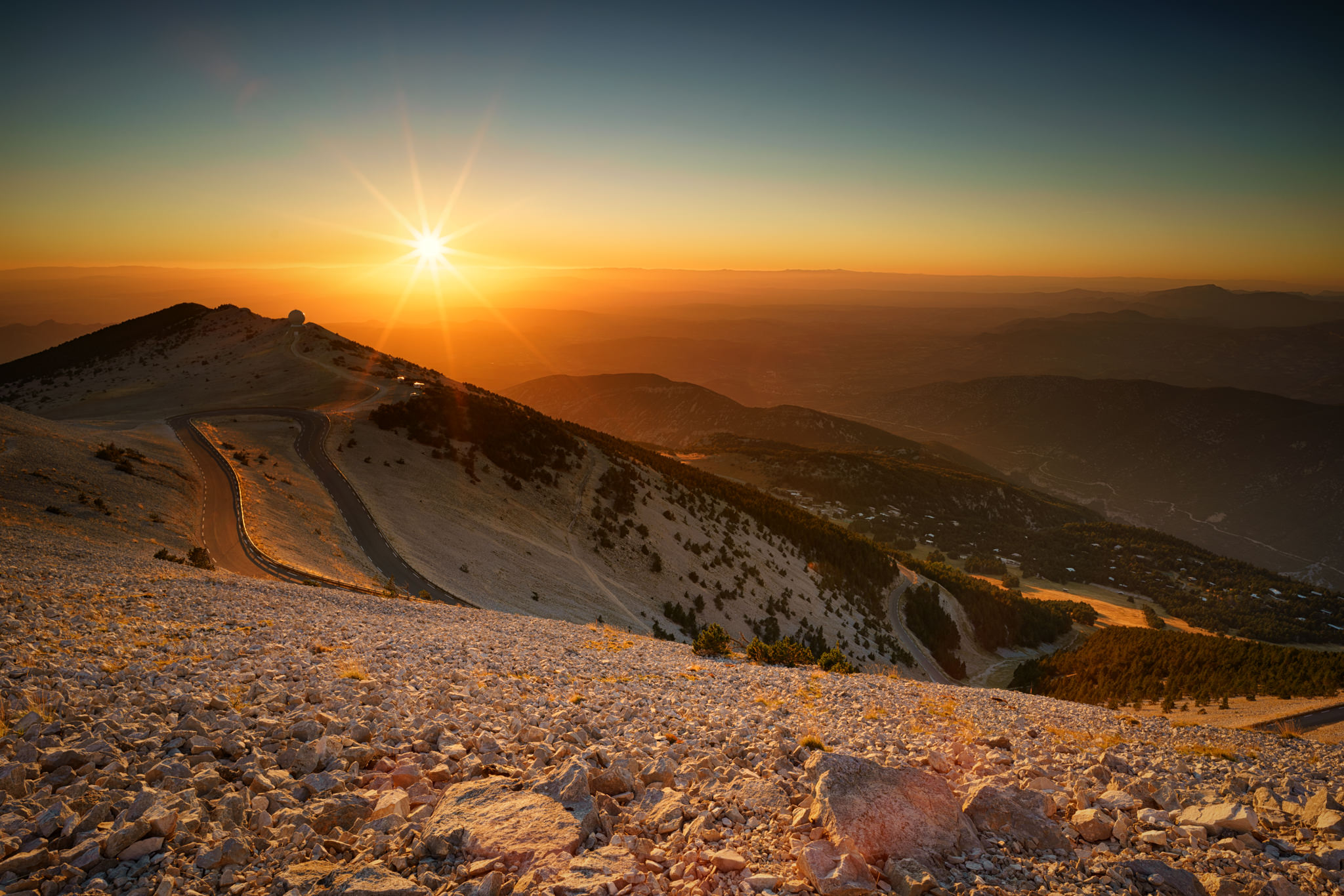 Sunset at Mt Ventoux