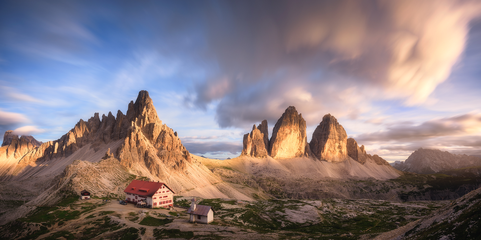 A Lightshow at the Dolomites