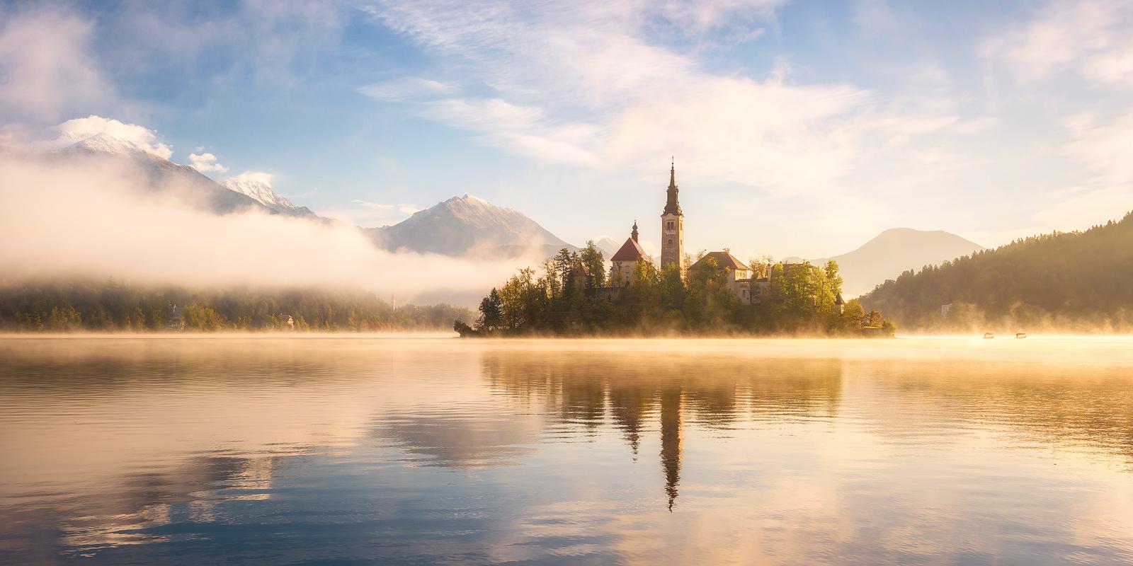 A golden morning in Slovenia