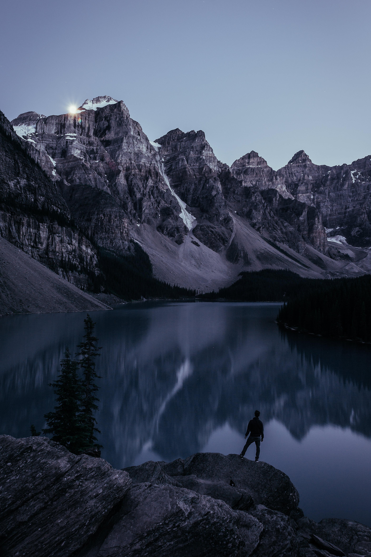 Moonrise at Moraine Lake