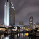 Downtown San Diego at Night from the Embarcadero Marina Park (HDR)