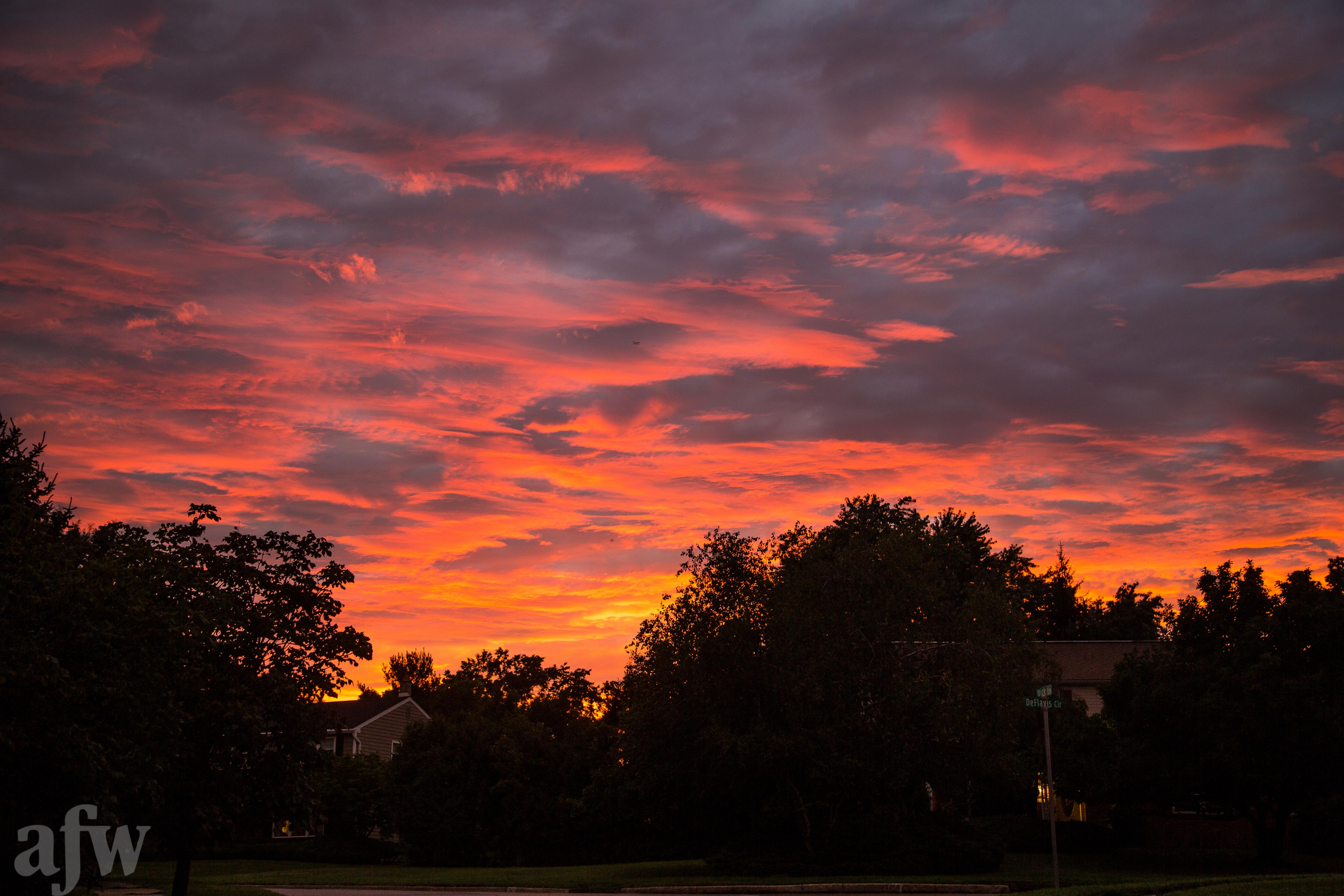 Evening Sky over Blue Bell