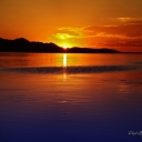 Sunset at Great Salt Lake, Utah.