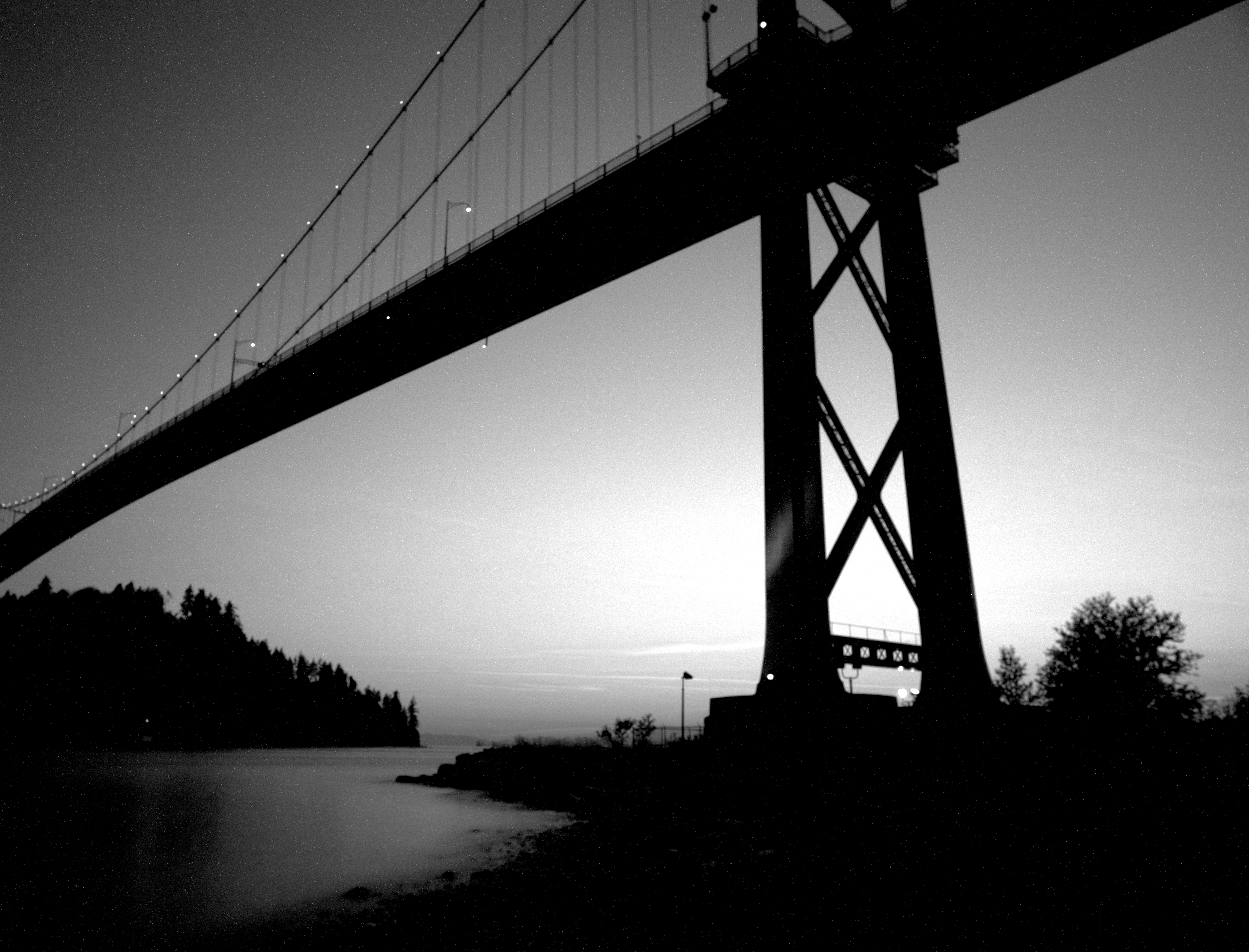 Lions Gate Vancouver B/W