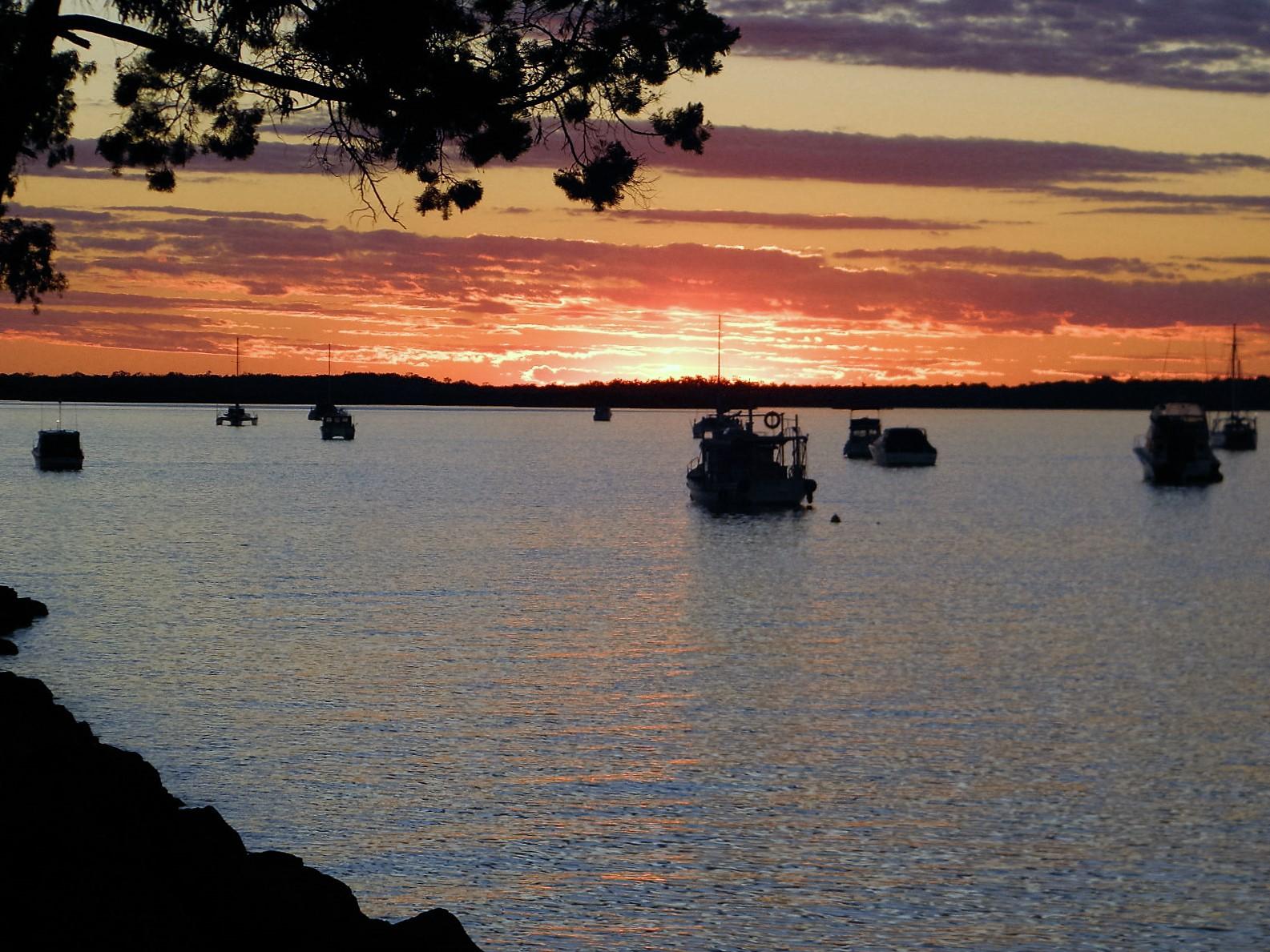 Sunset on Burrum River