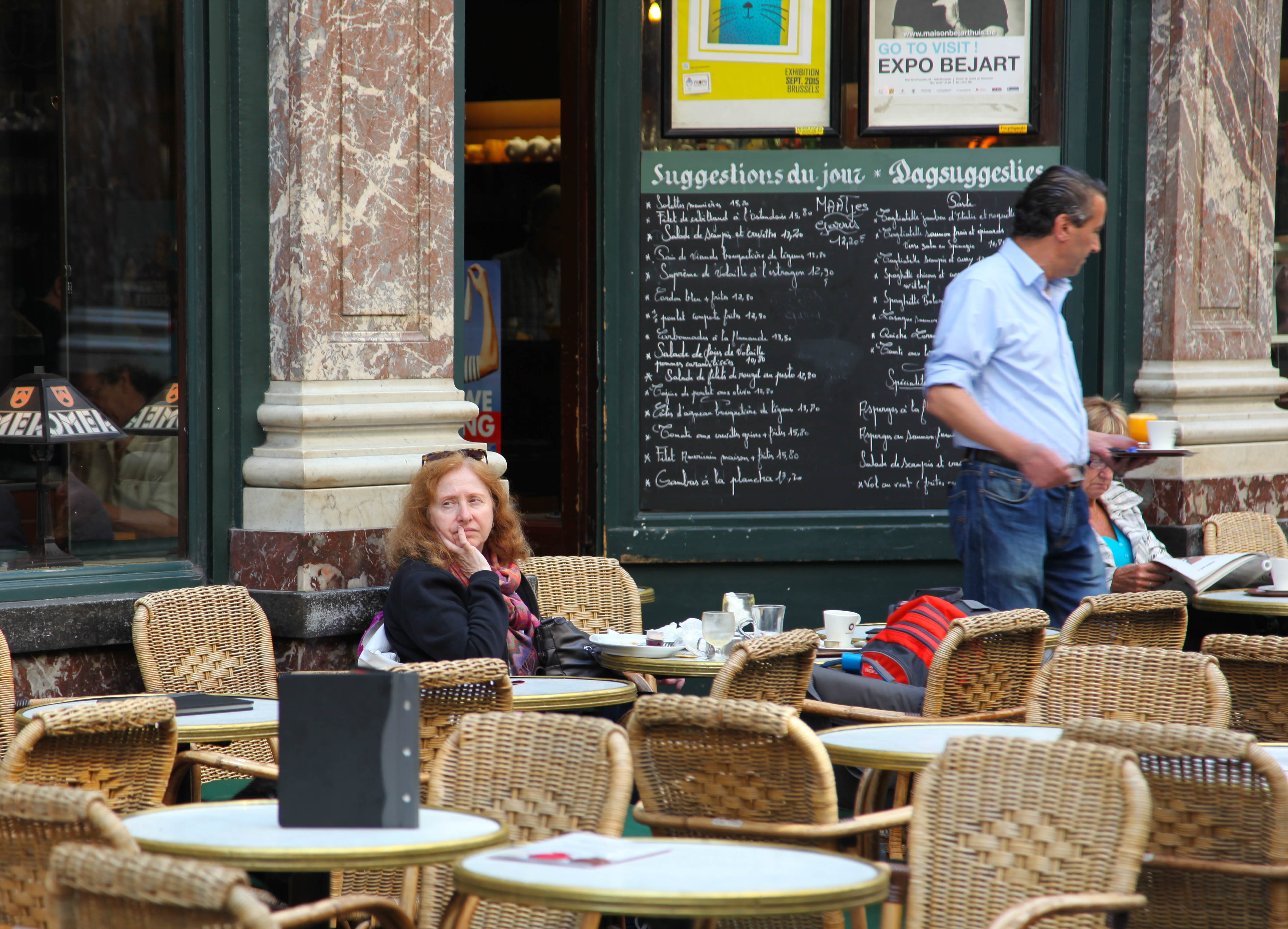 Brussels Cafe lady